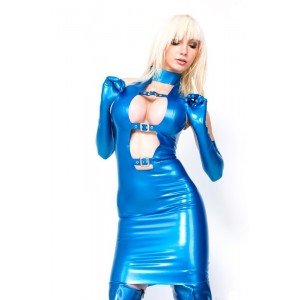Mini robe en latex Hilda